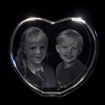 Hjärtformat kristallglas