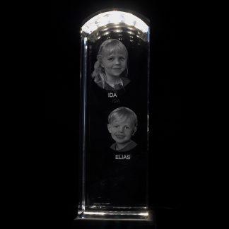 Tornformat kristallglas